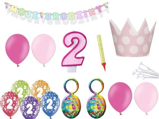 Zestaw Dekoracji Na 2 3 4 5 Urodziny Balony 7176380104