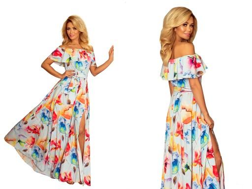 Elegancka Sukienka Boho W Kwiaty Na Wesele 194 1 S 9485704797 Allegro Pl
