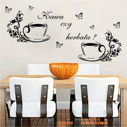 Naklejki Na ścianę Do Kuchni Kuchenne Kawa