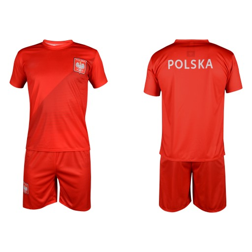 01438919639c POLSKA - STRÓJ KIBICA REPREZENTACJI czerwony - 146 7584709493 - Allegro.pl