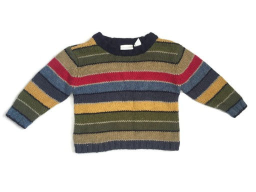 Sweterek w paski Second Step 12m-c 80