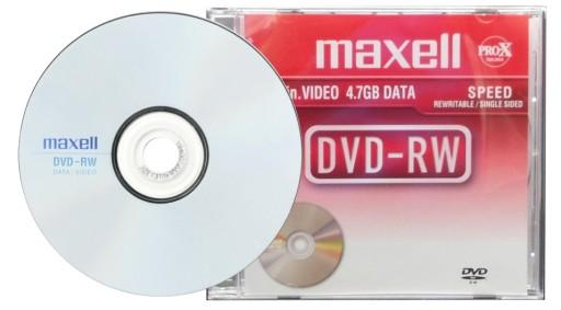 Płyta MAXELL DVD-RW 4,7GB Wielokrotny zapis 10 szt
