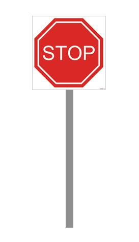 ZNAK STOP STELAŻ ALUMINIOWY 30x30 cm