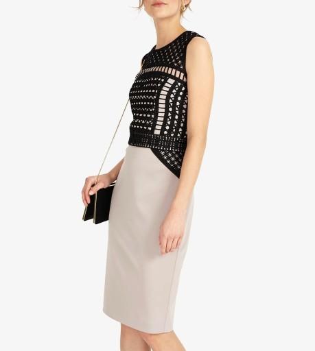 Outlet Phase Eight sukienka z tiulu i wstążki 40