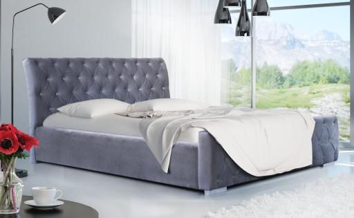łóżko Pikowane O Sypialni Z Pojemnikiem Louiz 180