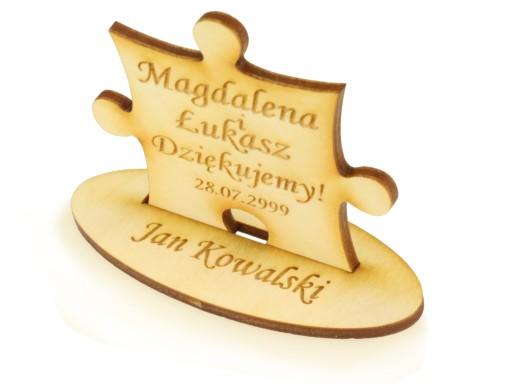 Winietka i magnes podziękowanie puzzle ślub wesele