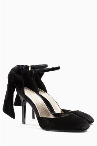 Sandały damskie czarne szpilki 10 cm kokarda r.38 Zdjęcie