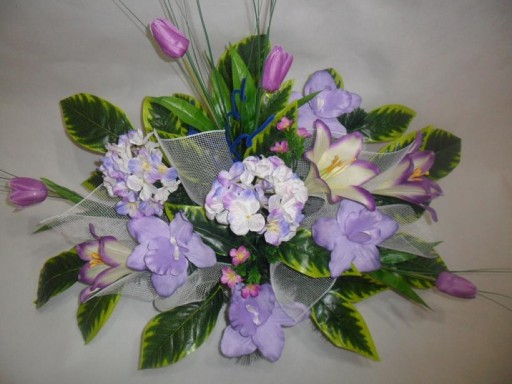 Kwiaty STROIK sztuczny na grób RÓŻNE PRODUCENT
