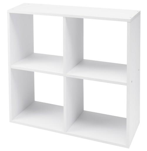 Regał Podłogowy Półka Na Książki Zabawki Biały