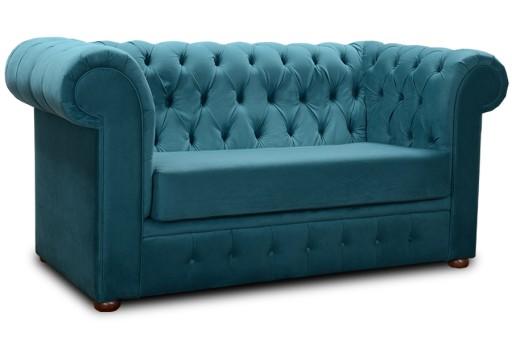 Pikowana sofa Chester 155 kanapa IV grupa tkanin