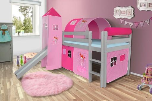 łóżko Dziecięce Szaretunel Różne Kolory Zasłonek