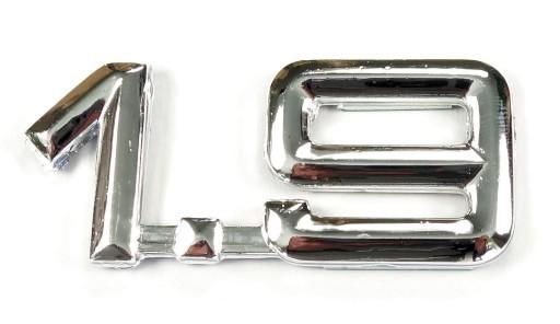 1.9 emblemat naklejki cyfry logo litery AUDI SKODA