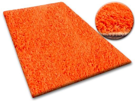 MIĘKKI DYWAN SHAGGY 5cm 100x150 pomarańcz @10640