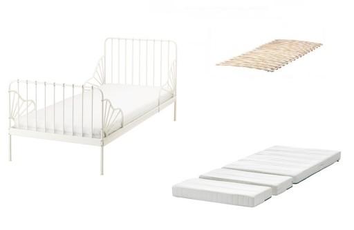 Ikea Minnen łóżko Rosnące Dno I Materac Innerlig