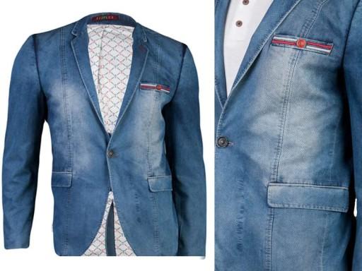 2413fcfac12aa Marynarka jeans 4203 battal fashionmen2 rozm. 50 (7258528791 ...