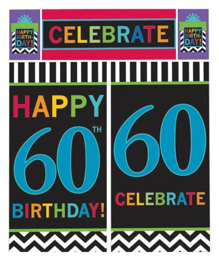 Dekoracja ścienna Baner Na 60 Urodziny 5531618902 Allegropl