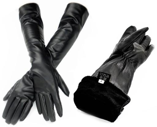 Damskie rękawiczki skórzane   Akcesoria skórzane