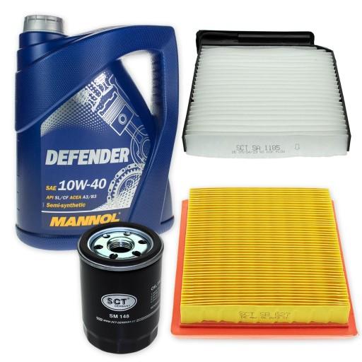 Zestaw filtrow Nissan Micra K12 Note OP612,AP142