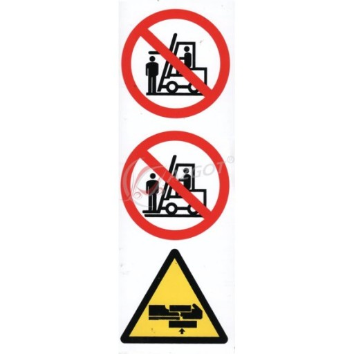 STICKER WARNING NA STEM TRAVERSE FORKLIFT