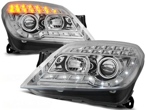 Lampy Przód Opel Astra H 04 Chrom Led Diodowe