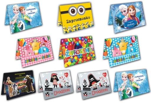 Zaproszenia Na Urodziny Dla Dzieci Pakiet 10 Sztuk 7680783801