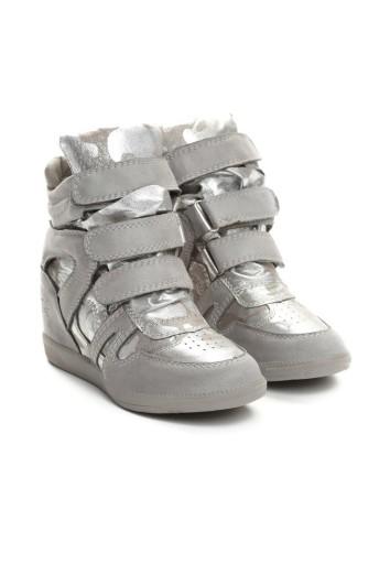 Sneakersy na koturnie BOTKI VICES r. 35 szare