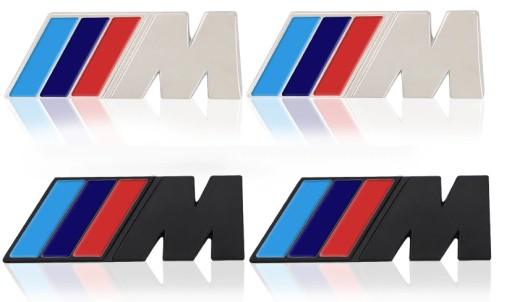 2 szt. emblemat w błotnik BMW ///M M power kolory