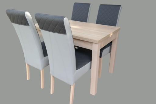 Stół I Krzesła Do Jadalni Dąb Sonoma Mjeziorny