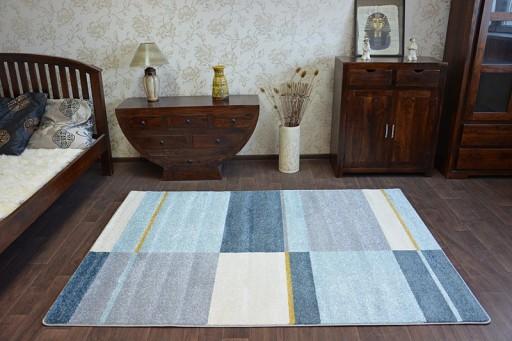 Dywany łuszczów Nordic 240x330 Krata Szary A046