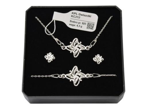 Srebrny Komplet Bizuterii Z Krysztalami Swarovski 6643339921 Allegro Pl