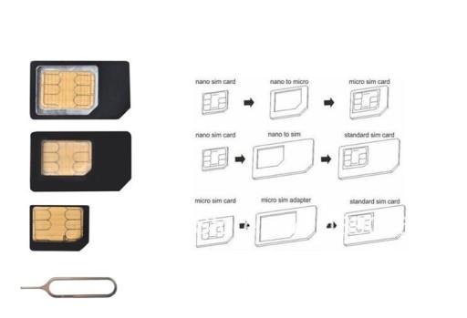 Adapter Przejsciowka Do Kart Sim Micro Nano Iphone 7220637581 Sklep Internetowy Agd Rtv Telefony Laptopy Allegro Pl