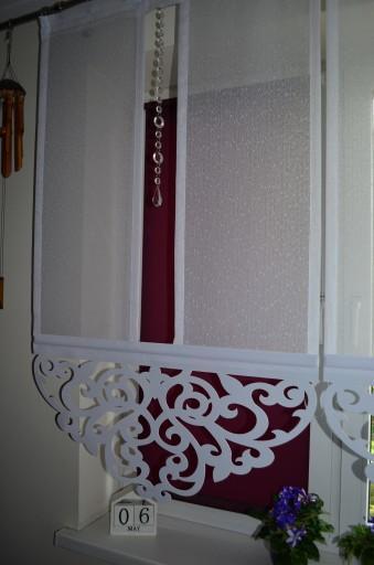 Firany Ażury Panel Ażur Z Kryształkami 80cm Nowość
