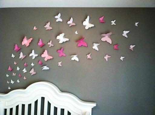 Okazja Motylki Motyle Na ścianę 3d 50 Szt Montaż