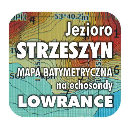 Jezioro Strzeszyn mapa na echosondy Lowrance BG