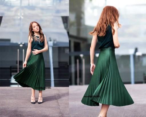 Blogerska Plisowana Spódnica BloG ZARA Lux M