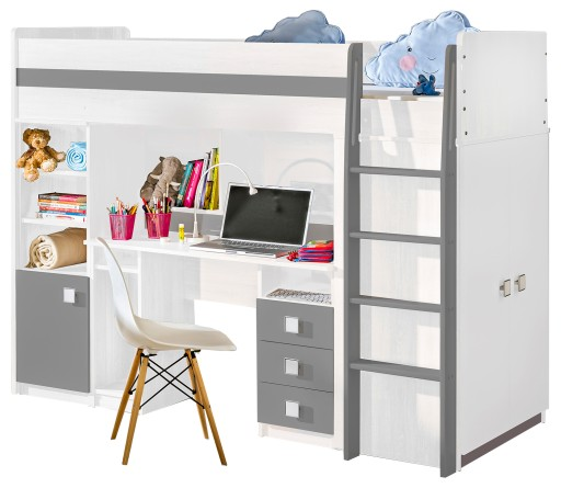 łóżko Piętrowe Biurko Uno Dla Chłopca Dziewczynki
