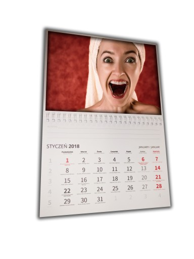 MAGNETYCZNY FOTO kalendarz A3 + ZDJECIE +NOTES 24H