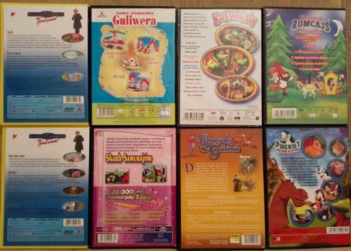 PŁYTY DVD,VCD dla dzieci 8 sztuk