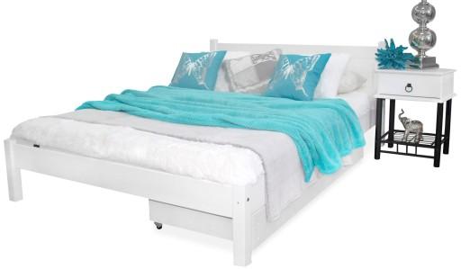 łóżko Drewniane Kala 140x200 Białe Stelaż Produc