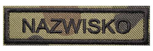 Naszywka Nazwisko WZ2010 wojskowa NamePatch Mundur