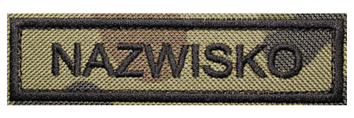 Naszywka Nazwisko WZ93 wojskowa Name Patch Mundur