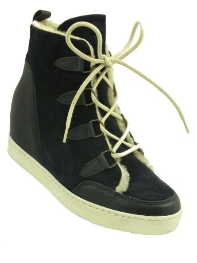 Botki sneakersy kożuszek na koturnie ANDRE r 36