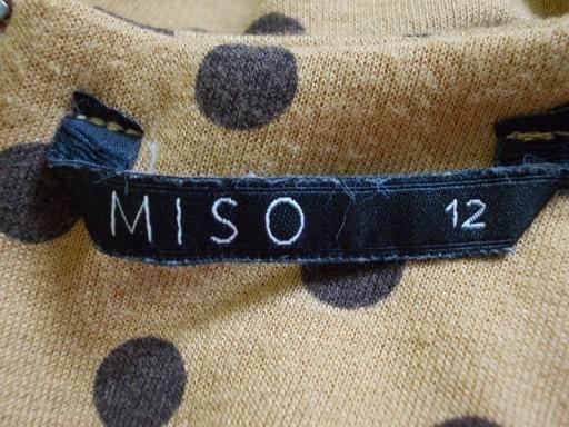 Sukienka rozkloszowana kropki grochy MISO 38 / 40