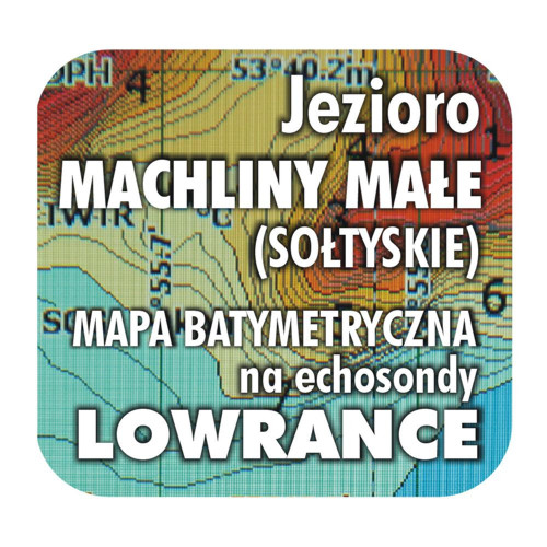 Jezioro Machliny Małe mapa na echosondy Lowrance