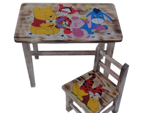 Mebelki Drewniane Dla Dzieci Stolik1krzesełko 7763637454