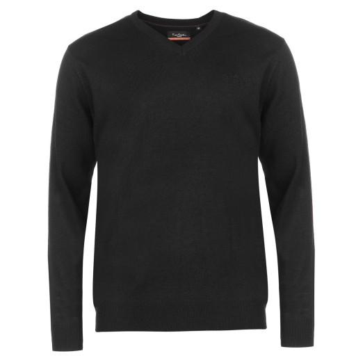 Sweter Męski Pierre Cardin XXXXL 4XL serek od ręki