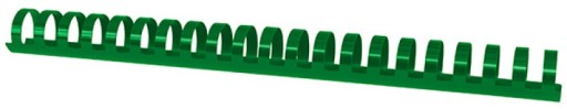 Grzbiety do bindowania A4, 25mm 50szt zielone