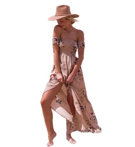 545ab961df Długa Sukienka Boho w Kwiaty Absolutny Hit 7399645226 - Allegro.pl