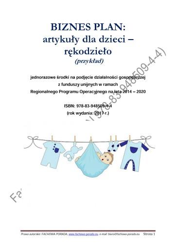 Biznesplan Artykuly Dla Dzieci Rekodzielo 44 90 Zl Allegro Pl Raty 0 Darmowa Dostawa Ze Smart Serock Stan Nowy Id Oferty 7030222070