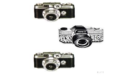 Tatuaż Aparat Canon Obiektyw Fotograf Foto Zdjęcia